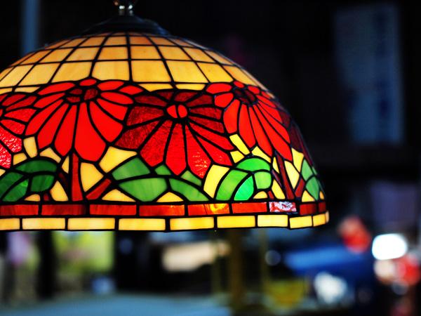 ステンドグラス照明